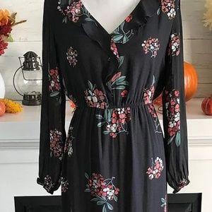 LOFT Hydrangea Ruffled Maxi Dress